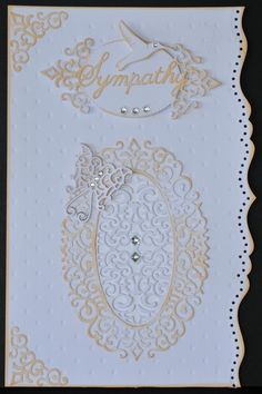 #cheeryld  Cheery Lynn Designs Challenge 188 - Creative Corners. The winner will be chosen randomly. They will receive $20 towards shopping at the Cheery Lynn website. The challenge will end on Saturday night at 18:00 Eastern time.  Debbie Brownmiller Dies used: Royal Scandinavian Oval Doily, Royal Scandinavian Tag 1, Curved Border Set, Tiny Things with Wings,  Sympathy, Dotted Swiss Embossing Plate www.CheeryLynnDesigns.com