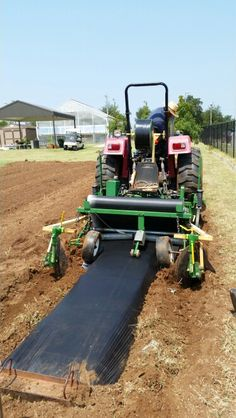Putting in fall garden with new plasticulture beds.