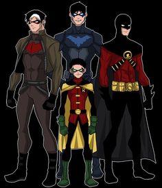 Dick Grayson. Tim Drake. Damian Wayne. Jason Todd