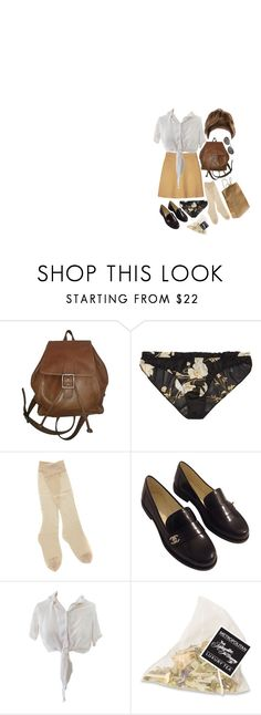 """""""I'm lying in the ocean,singing your song"""" by brownloveh ❤ liked on Polyvore featuring Organic by John Patrick, Coach, Carine Gilson, Fogal, Chanel and Jean-Paul Gaultier"""