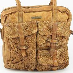 Italienische Ledertasche von Josual London. Used - Look Vintage Handtasche aus Leder www.styleup.eu