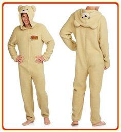 L Men/'s Ted 2 Thunder Buddies Teddy Bear One Piece Pajama Sleep Suit Size M XL
