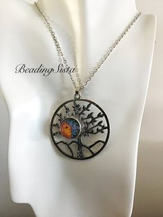 d3821cdeb Snap Button - Tree of Life - Pendant - Ginger - Noosa - Necklace - 18-20mm  Snaps