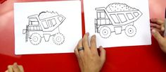 How To Draw A Dump Truck - Art for Kids Hub