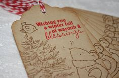 Handmade Vintage Style Christmas Gift Tags  Mouse and by wkburden, $3.99