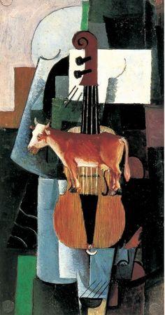 Mucca e violino.  1913. San Pietroburgo.  Museo Russo