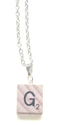 Personalised  G  Necklace~ Necklace~G Scrabble Necklace~RARE-New