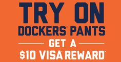 Head to JC Penney's to get a free VISA gift card when you try on DOCKERS! Try on any pair, take a selfie, and upload it here! It's that easy! Free money for a selfie! I'm heading to JCPenney tonight!