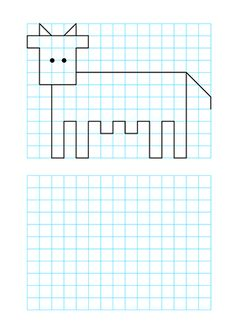 Graph Paper Drawings, Graph Paper Art, Cute Drawings, Drawing Activities, Activities For Kids, Pixel Drawing, Scribble Art, School Clipart, School Themes