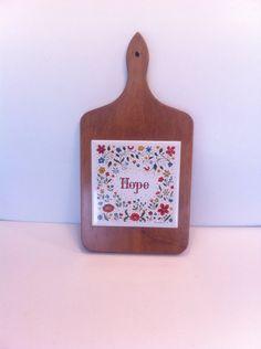 Berggren Tile Cutting Board Hope Floral Vintage by Pesserae, $12.50