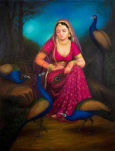 indian paintings. Read Full article: http://webneel.com/webneel/blog/15-mind-blowing-disney-paintings-thomas-kinkade-painter-light | more http://webneel.com/paintings . Follow us www.pinterest.com/webneel