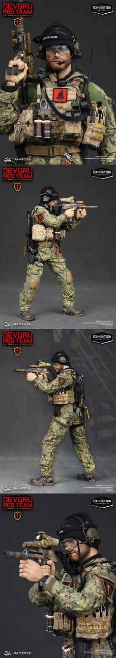 ONE SIX_DEVGRU RED TEAM VBSS BY DAMTOYS_ EXHIBITION 2013 Gi Joe, Battle Dress, Tactical Wear, Armor All, Military Action Figures, Red Team, Modeling Tips, Realistic Dolls, Military Guns