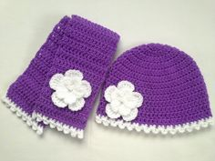 Crochet Baby Toddler Kids Hat and Scarf Set by TatjanaBoutique