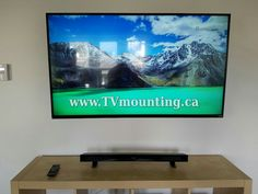 55 Inch Hdtv Full Motion Tv Wall Mount Sound Bar In Wiring No Wires