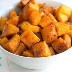 Cinnamon Roasted Butternut Squash - http://www.inspiredtaste.net/25065/cinnamon-roasted-butternut-squash-recipe/