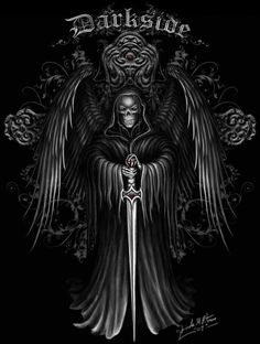 images of dark angels Death Reaper, Grim Reaper Art, Don't Fear The Reaper, Angel Of Death Tattoo, Reaper Tattoo, Beautiful Dark Art, Angel Drawing, Skull Pictures, Skull Artwork