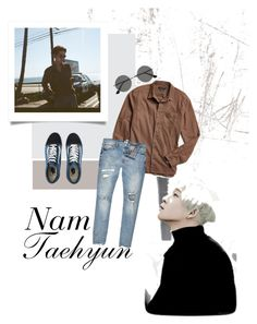 """""""Strong nam tae!!!!"""" by fxxkwithus on Polyvore featuring Yves Saint Laurent, Urban Outfitters, River Island, Vans, men's fashion and menswear"""