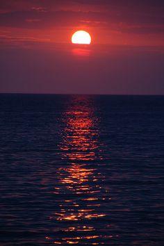 Purple Greek sunset