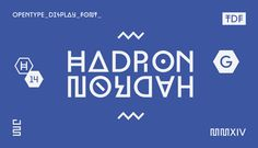 Hadron Display Typeface by Jonathan Martin, via Behance