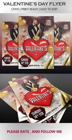 valentine party flyer template free