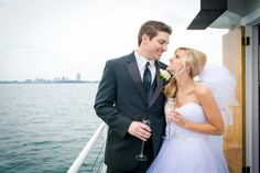 Moonshine Studio of Photography » Lauren + Kevin Buffalo, NY » Miss Buffalo » Boat » Wedding