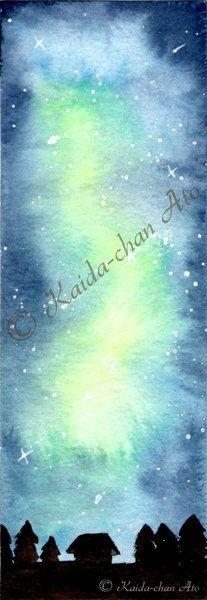 Lesezeichen 1 Print Aquarell Lesezeichen von BinesBastelstube