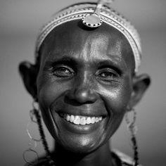 El Molo woman smiling–Lake Turkana–Kenya.