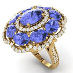 SKU#39194 ---- 15.24 CTW Royalty Tanzanite & VS Diamond Ring 18K Gold<BR><BR>GEMMARI Designer Brand Luxury Jewelry, Made in the USA<br>Gemmari Retail Price: $27,000 <br>GEMMARI offers perfect factory sizing, for all rings & custom length for larger necklaces and bracelets<br><br><br><br>MULTI AUCTION SERVICES will arrange & ship internationally with FREE US shipping<br>We specialize in Factory & Premium Stores Liquidation...