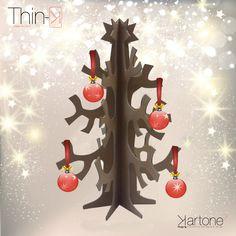 albero di natale in eco cartone avana  in vendita su www.maketank.it christmas cartonboard