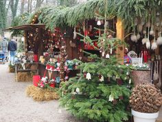 Christmas market in the Grounds of the Thurn and Taxis Palace - Regensburg, Germany