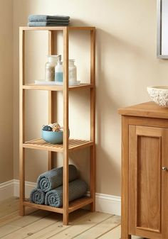 This teak rack from Signature Hardware is perfect for indoor or outdoor use. Whether it be in the bathroom or on the patio, you are sure to update your home decor style with this moisture-resistant product. Room Design Bedroom, Bedroom Decor, Bathroom Furniture, Diy Furniture, Spa Room Decor, Rustic Bathroom Designs, Home Organization Hacks, Home Decor Styles, Online Furniture