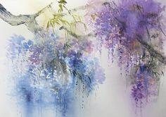 Акварельные пейзажи Reine-Marie Pinchon