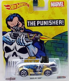 2016 HW Hot Wheels Pop Culture Marvel  - HAULIN' GAS - THE PUNISHER #HotWheels #HaulinGas