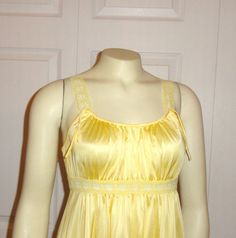 Vintage Nightgown Van Raalte Spring Colors Yellow by 2sweet4words, $24.99