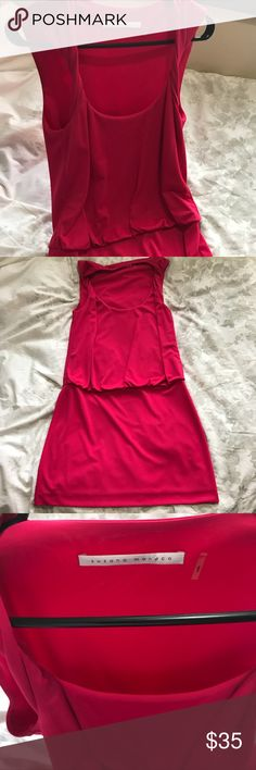 Susana Monaco M hot pink dress Super cute and fitted. Twisted strap, fitted skirt. Hot pink. Size M Susana Monaco Dresses Mini
