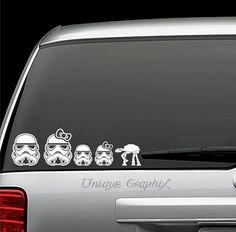Star Wars Storm Trooper family vinyl decals window stickers