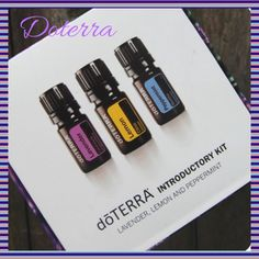 Brand new, factory sealed doTerra introductory kit New, sealed doTERRA introductory kit comes with lavender, peppermint, and lemon. There are over 100 different uses for just these 3 oils. These 5ml bottles are a perfect kit for beginners. Try them and you will love them! Such a great and natural way to take care of yourself and those you love without harsh and artificial chemicals. DoTERRA Other