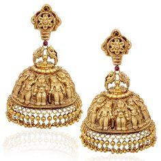 Dasavatra earrings #India #Temple #Jewellery