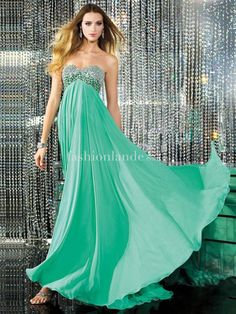 Soft Chiffon Dress With Beaded Bodice - Cheap Prom Dresses Australia | Shop Online at Wedding Shop Fashionlande Australia - $107.99