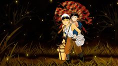 Grave of the Fireflies  ----------------------------------------------- In the latter part of World War II, a boy and his sister, orphaned when their mother is killed in the firebombing of Tokyo, are left to survive on their own in what remains of civilian life in Japan. The plot follows this boy and his sister as they do their best to survive in the Japanese countryside, battling hunger, prejudice, and pride in their own quiet, personal battle.