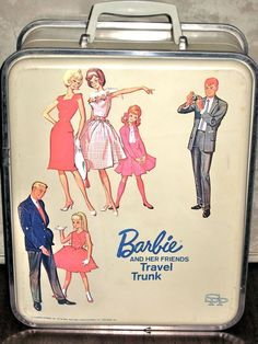 Vintage Barbie c. 1965 Barbie And Her Friends Travel Trunk