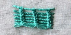 Ceylon Stitch + 4 other embroidery stitches that are different