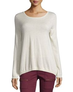 JOIE Marianna Lace-Back Sweater. #joie #cloth #