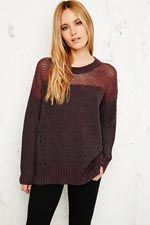 Sparkle & Fade Opaque Yoke Sweater at Urban Outfitters
