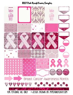 Free Pink Breast Cancer Sampler for the Erin Condren Life Planner