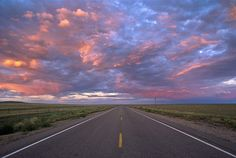 National Geographic Highway At Sunset Wall Mural