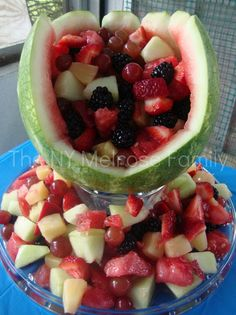 Baseball Mitt Fruit Salad Bowl
