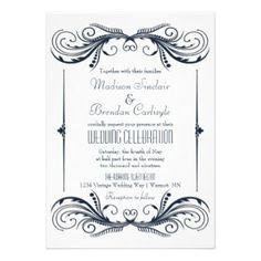 Roaring 20s Twenties Art Deco Wedding Invitation