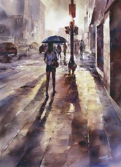 Street Watercolor Paintings | Lin Ching-Che
