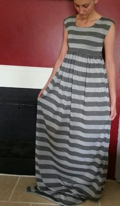 DIY Maxi Dress This dress was a bit of a challenge to make. If you want to make a similar maxi dress, just leave it as a one piece dress. Easy DIY Maxi Dress: Two rectangles of fabric (2 yards) sew...